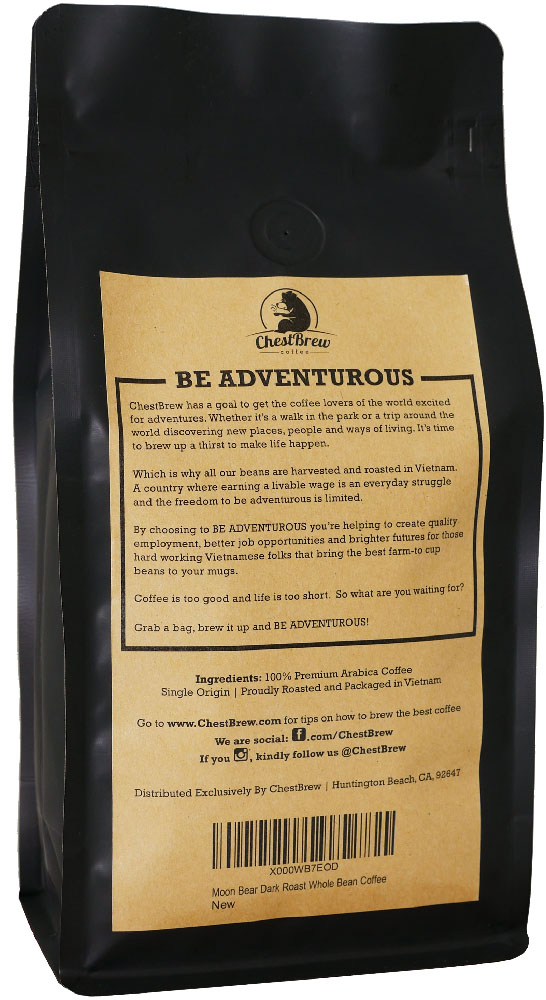 ChestBrew Whole Beans Coffee Back
